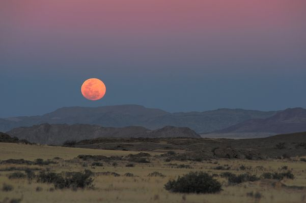 Vollmond über der Namib Full Moon over the Namib