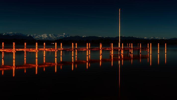 Vollmondnacht am Starnberger See