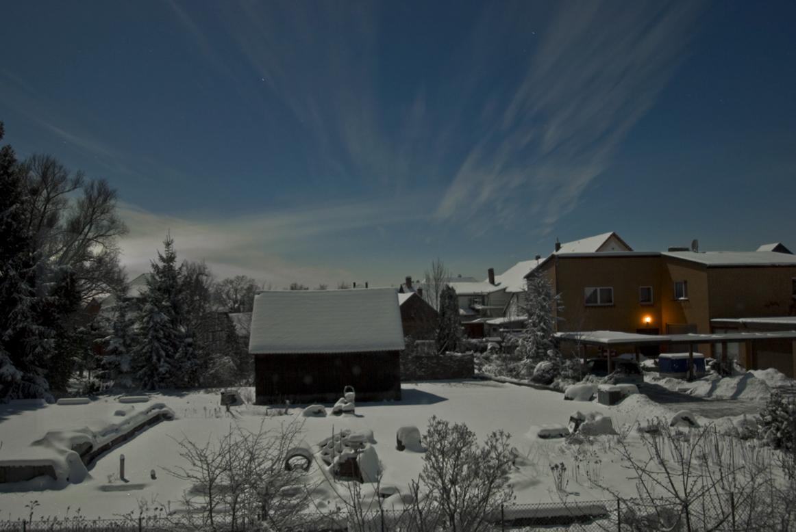 Vollmondnacht im Schnee