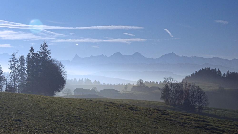 Vom Emmental nach Bern (Schweiz)
