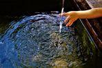 vom Erhaschen der Kühle des klaren Wassers