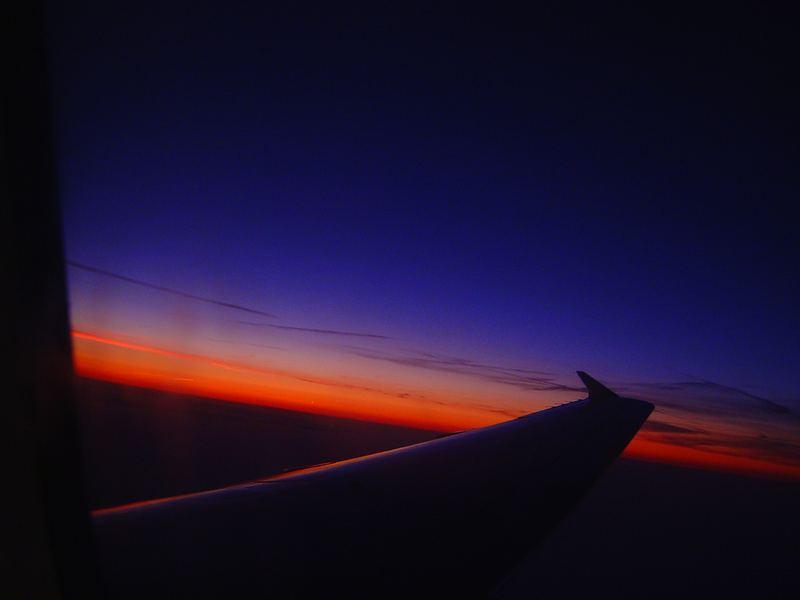 Vom Flugzeug aus