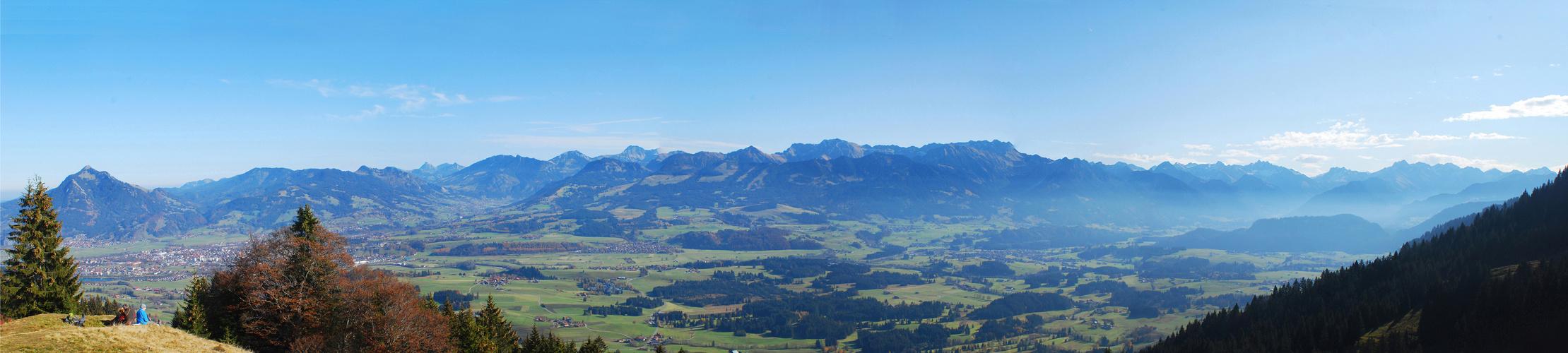 Vom Grünten bis zum Nebelhorn