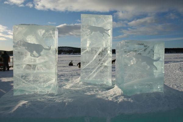 vom Icehotel bei Kiruna...