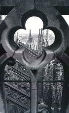 Vom Kölner Dom Richtung Hohenzollernbrücke (1986)