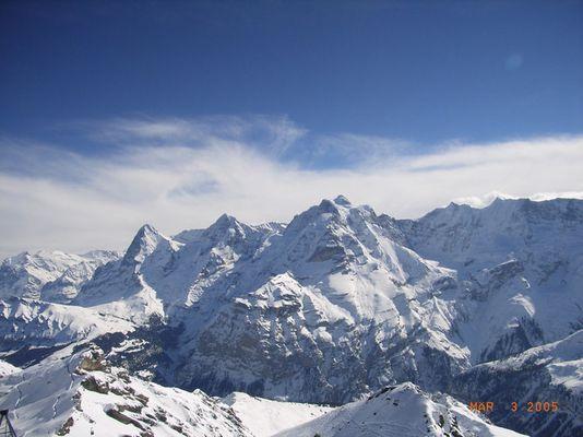 Vom Schilthorn- Eiger Mönch Junfrau
