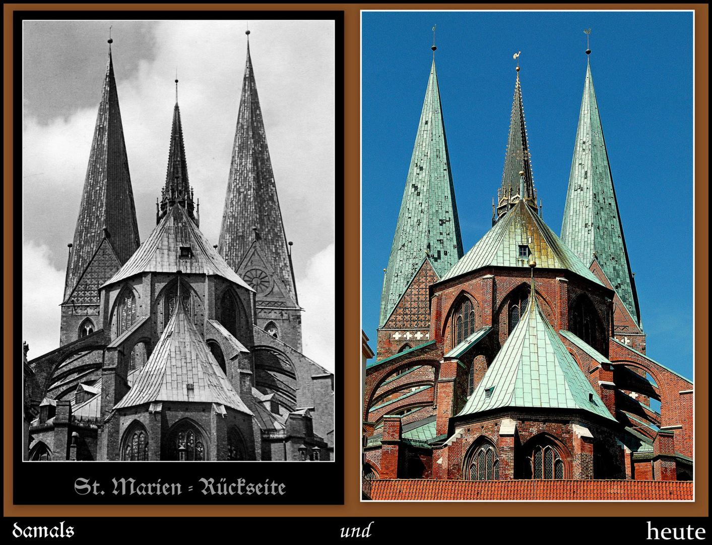 Vom Schrangen aus hat man einst und jetzt den  Blick auf das Kirchenschiff