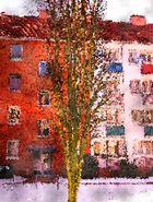 Vom Straßenmaler in Paris