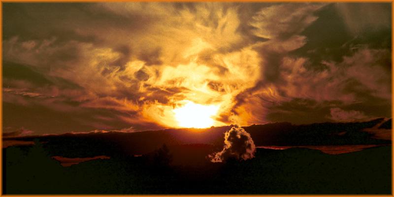 Von der Abendsonne inszeniert