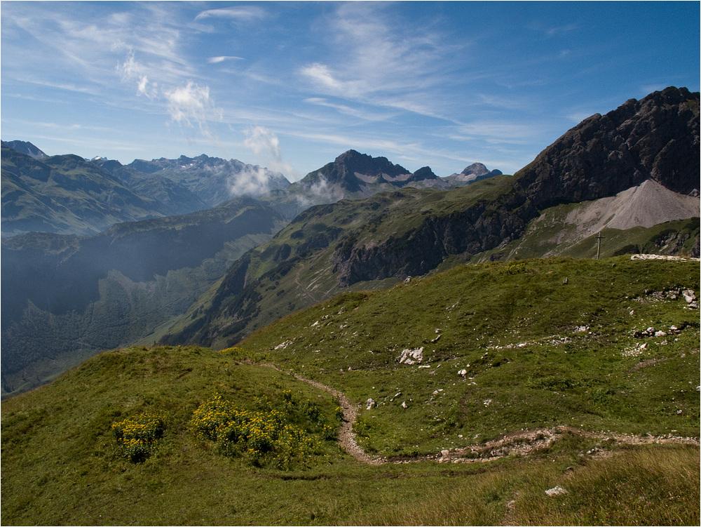 Von der Mindelheimer Hütte ins Tal