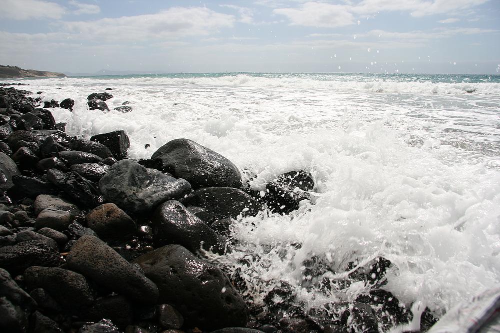 """""""von der Welle kalt erwischt"""" Fuerteventura Esquinzo nach Jandia"""