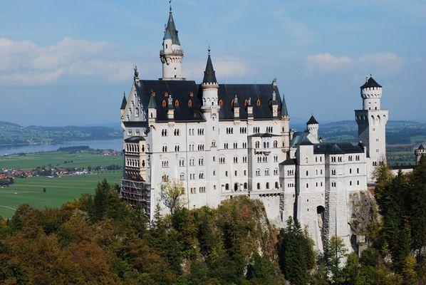Von einer anderen Seite aufgenommen Schloss Neuschwanstein