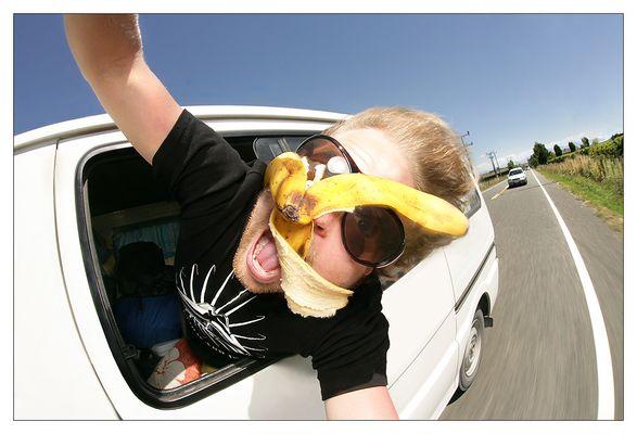 Von Kiwis mit Bananen beworfen!