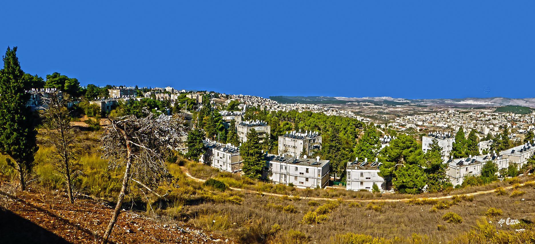 von Nazareth illit Berge bis weit zu Meer