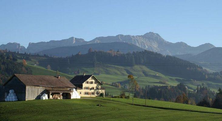 """Von Urnäsch mit Blick auf das Alpsteingebiet """"Säntis"""""""