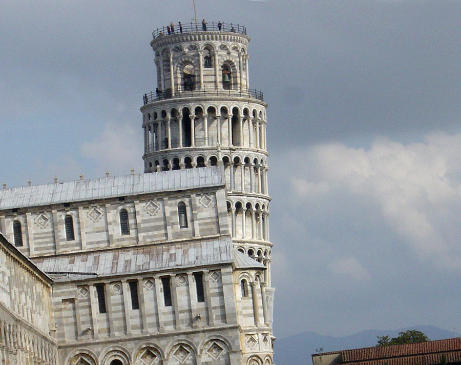 """von wegen """"schiefer Turm"""" von Pisa # 1"""
