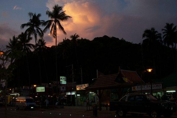 Vor dem allabendlichen Monsunregen
