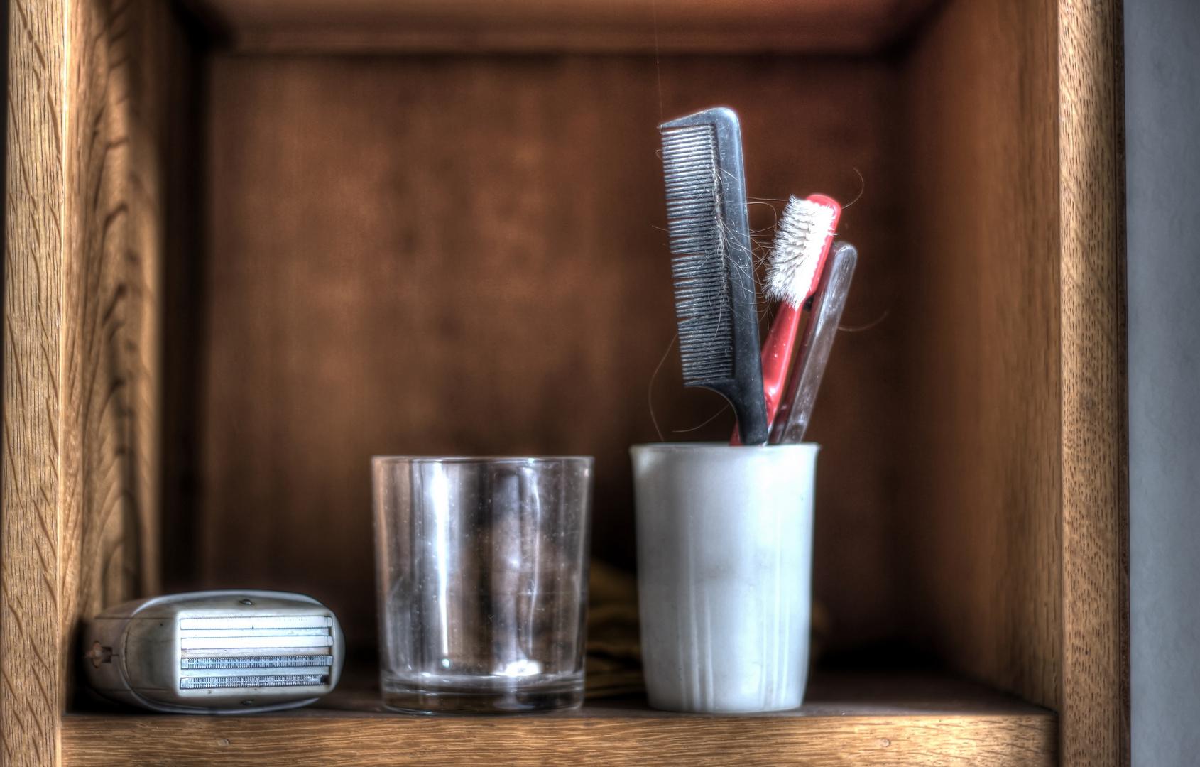 Vor dem Schlafen gehen Zähneputzen nicht vergessen