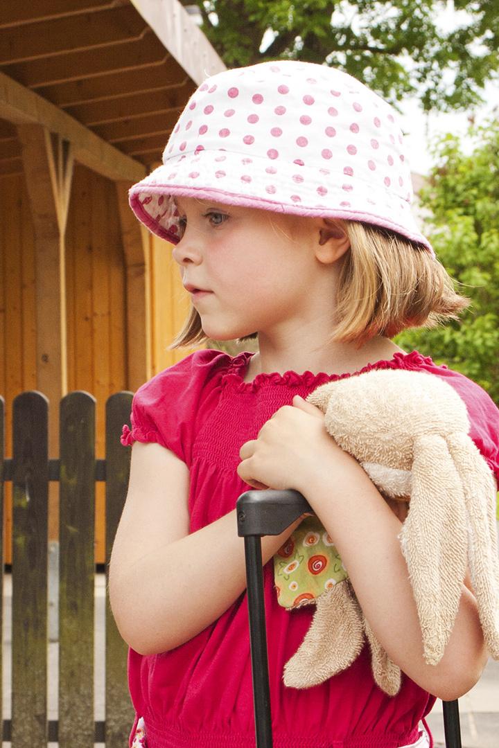 Vor der Kindergarten-Abschlußfahrt- Ronja