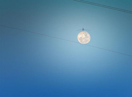 vor kurzem habe ich ein Männchen auf dem Mond gesehen...