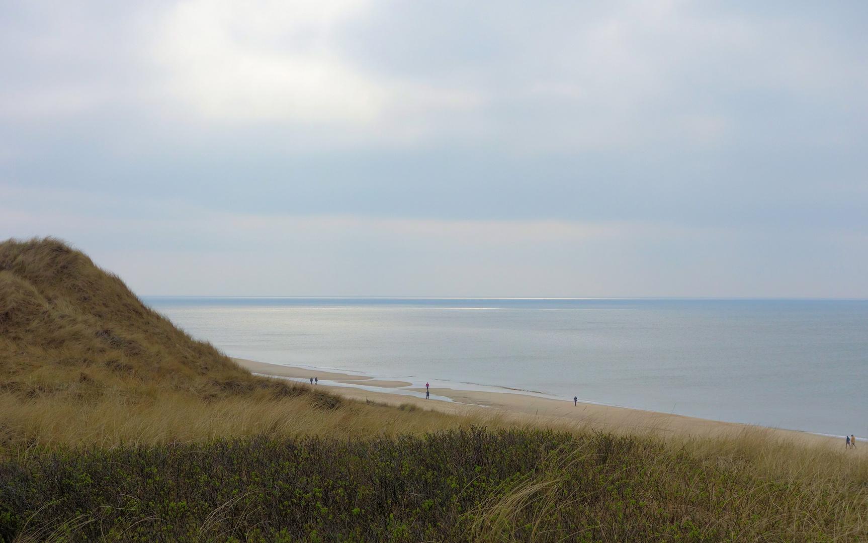 vor-österliche ruhe am strand von sylt