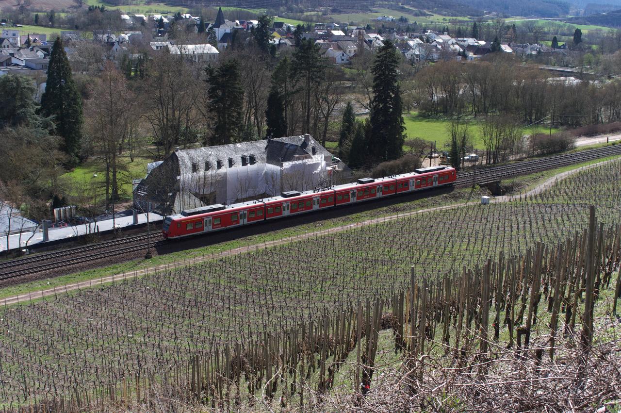 Vorbei an den Weinbergen und dem Weingut von Günther Jauch....
