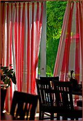 Vorhang im Luftstoß