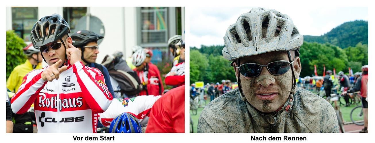 Vorher - nachher - ULTRA Bike Marathon 2011