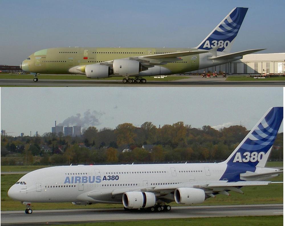 Vorher/Nachher - A380
