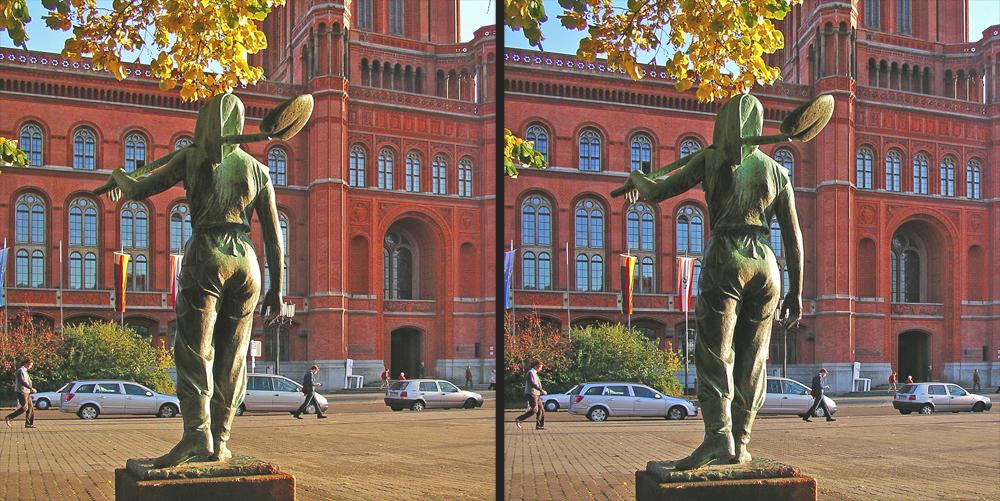 Vorm Roten Rathaus