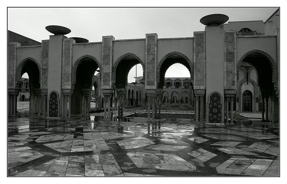 Vorplatz Moschee Hassan II