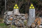 Vorsicht Brennstäbe und spaltbares Material