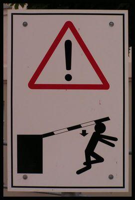 Vorsicht Schranke