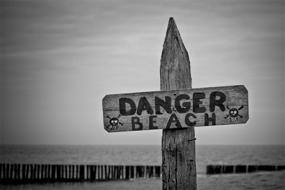Vorsicht: Strand!