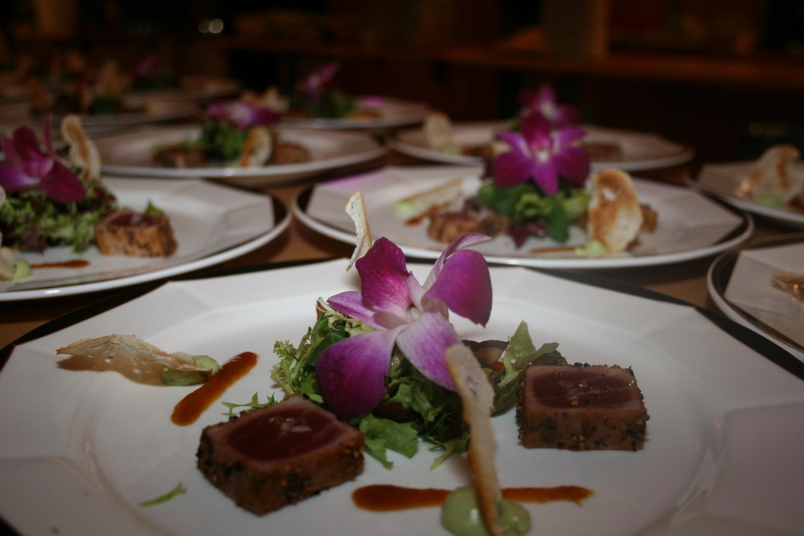 Vorspeise Sashimi vom Thunfisch