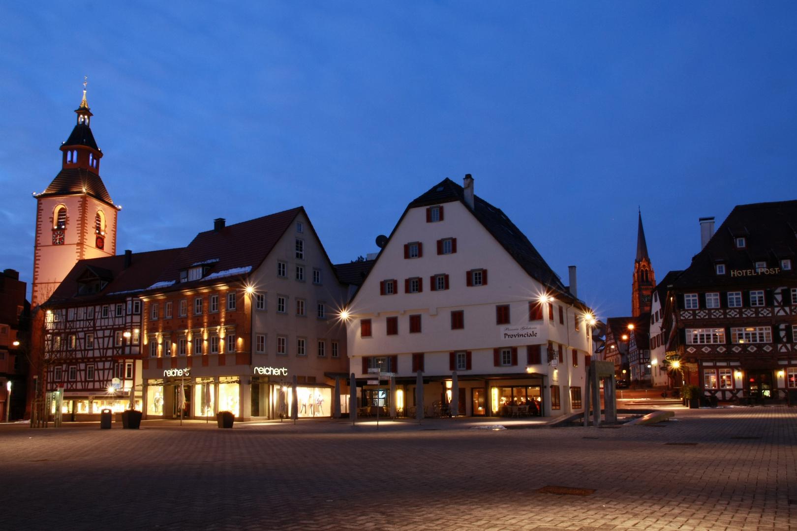 Vorstadtplatz - Nagold bei Nacht