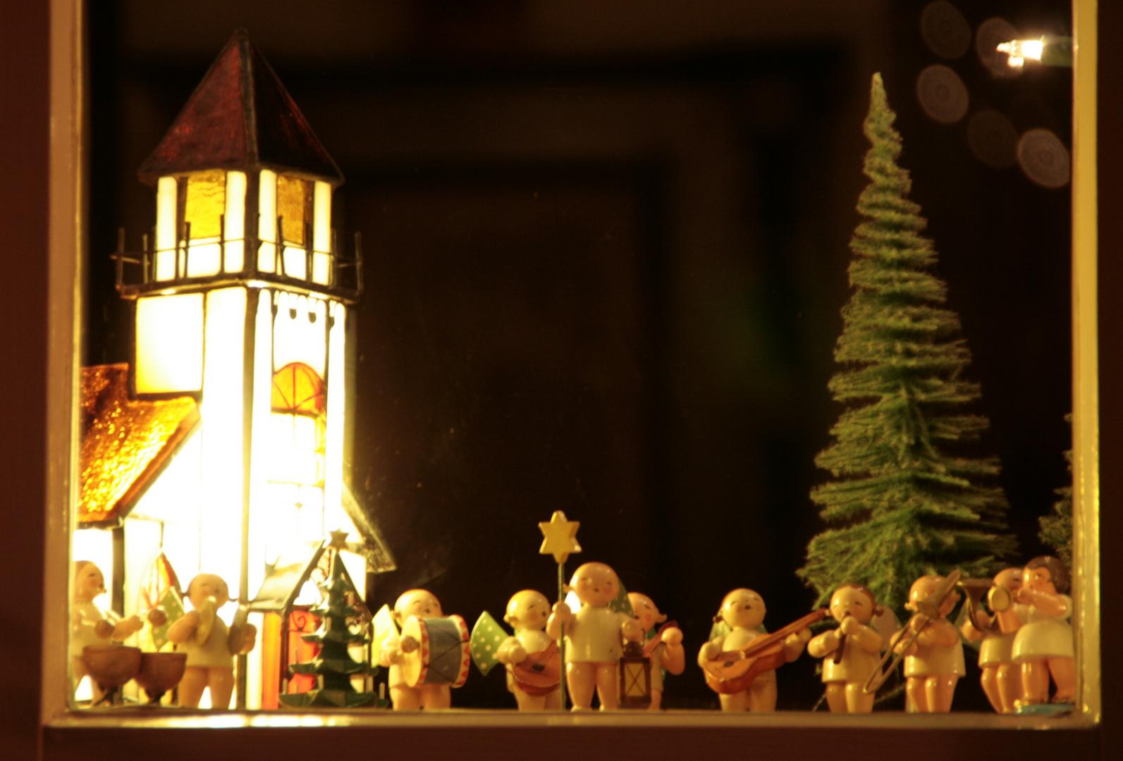 Vorweihnachtliche Fensterdeko