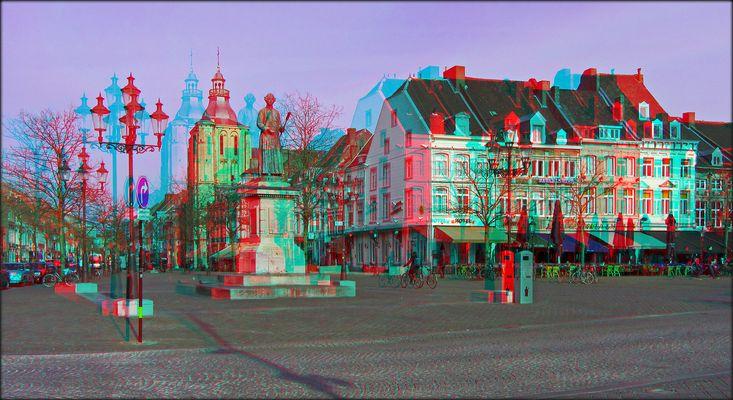 Vrijthof in Maastricht (3D)