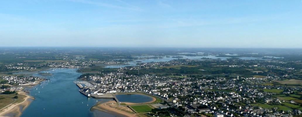 Vue aérienne de la Ria d'Etel