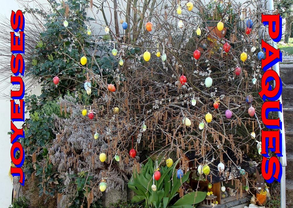 Vue dans un jardin à Bonfol (Jura)