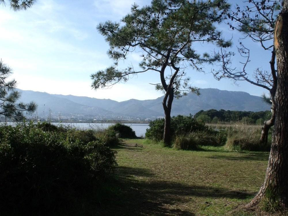 vue de l'étang de Biguglia,