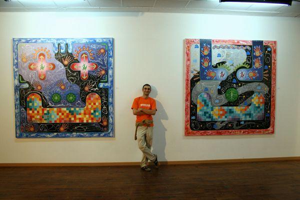 Vue de l'exposition de Yann Dumoget N°2