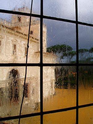 Vue de pluie Villa Medici