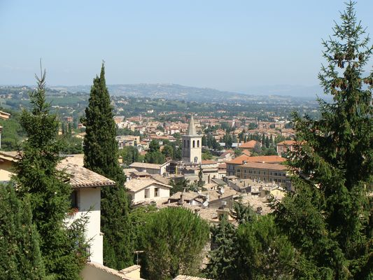 vue de Spoletto (italie)
