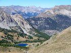 Vue depuis le Mont Chenaillet à la frontière italienne!