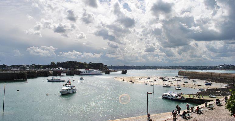 Vue des remparts de Saint Malo