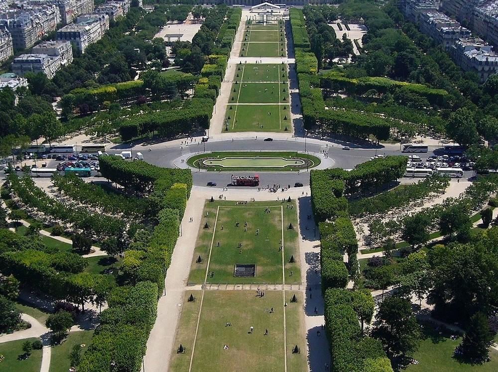 Vue du 2ème étage de la Tour Eiffel