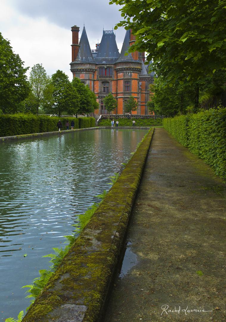 Vue du Château de Trévares depuis le bassin, Finistère, Bretagne