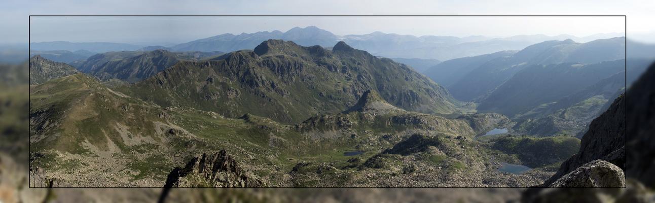 Vue du pic Fourcade en Ariège