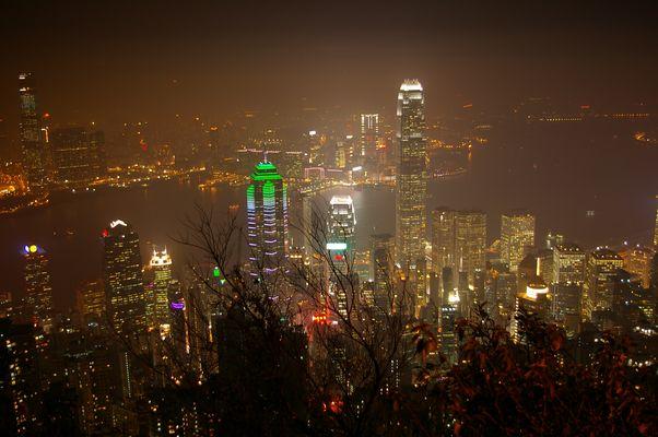 vue du victoria Peak sur la baie de Hong Kong